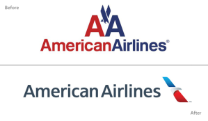 The American Airlines Logo Before and After Rebranding